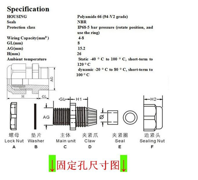防水接线盒(ip65防水等级防uv)端子接线盒防水端子盒