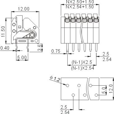 轨道式接线端子pc1