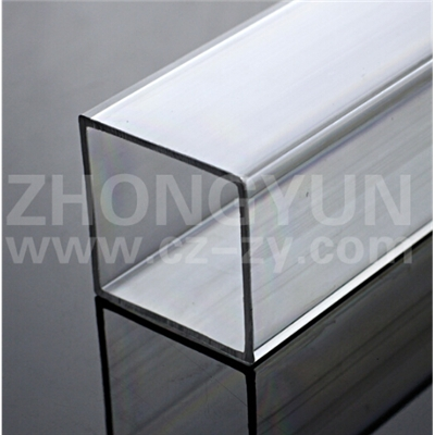 免费拿样 透明有机玻璃方管 透明方形亚克力管