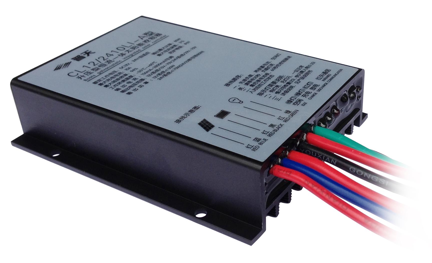 一、产品简介 本产品是一款性价比极高的太阳能控制器,创新的电路设计使放电效率高达96%,优化后的产品大大提高了系统的稳定性。本控制器能根据蓄电池的剩余容量,自动调整负载功率,这一功能增加了太阳能路灯的亮灯天数。采用全密封防水设计,恒电流输出,输出电压15V~70V自适应,可分四个时间段调节电流,是一款高智能的太阳能控制器。 二:接线说明 1)先将负载的正负极分别接在控制器的第五根线上(红)和第六根线上(绿)(从左至右); 2)然后把蓄电池的正极接在控制器的第三根线上(红),负极接在第四根线上(黑),此时,