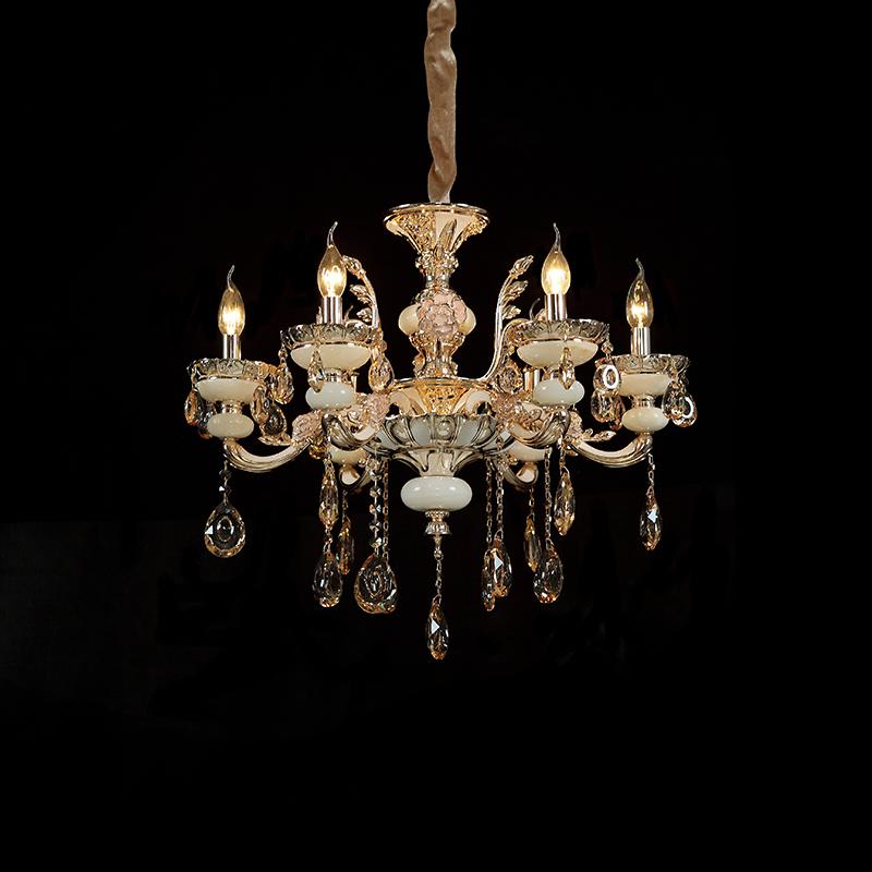 高档欧式蜡烛水晶吊灯现代简约豪华别墅客厅卧室餐厅