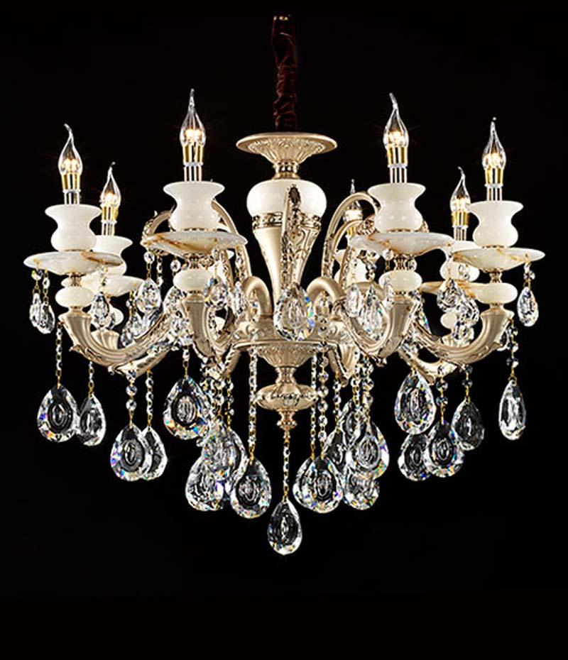欧式蜡烛水晶吊灯
