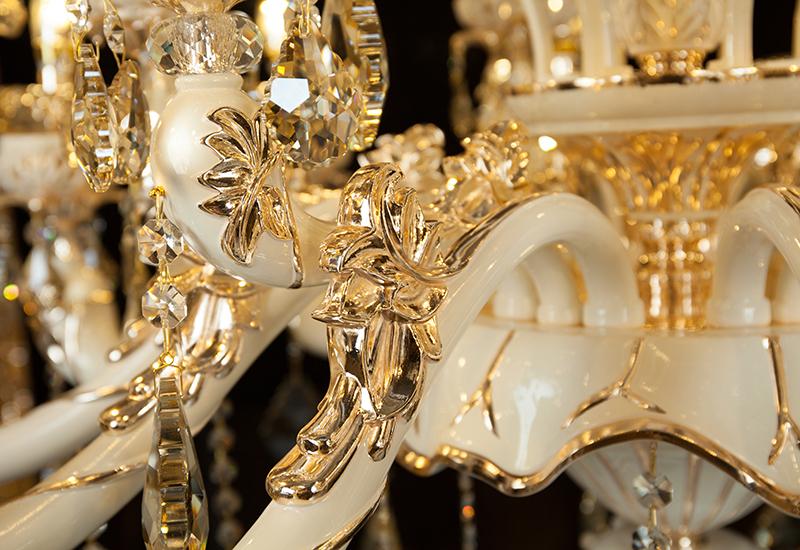 复古时尚奢华欧式水晶吊灯蜡烛灯