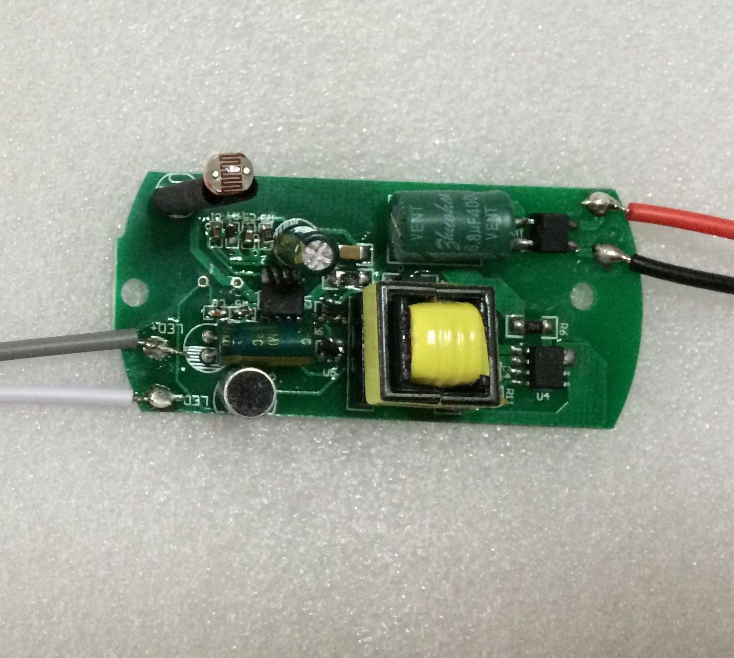 led吸顶灯声光控驱动电源