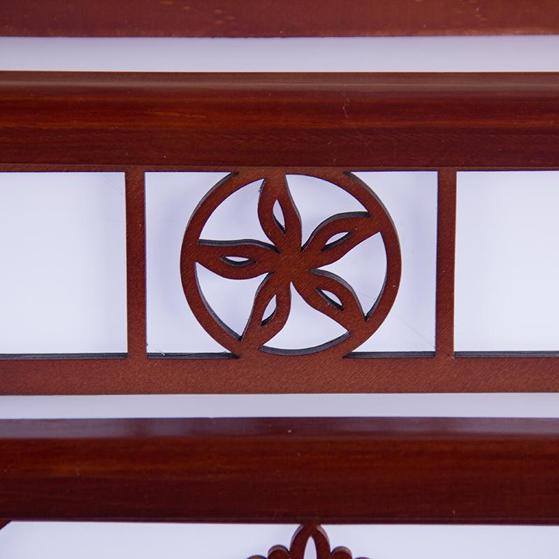 中式木艺古典景德镇吸顶式陶瓷吊灯
