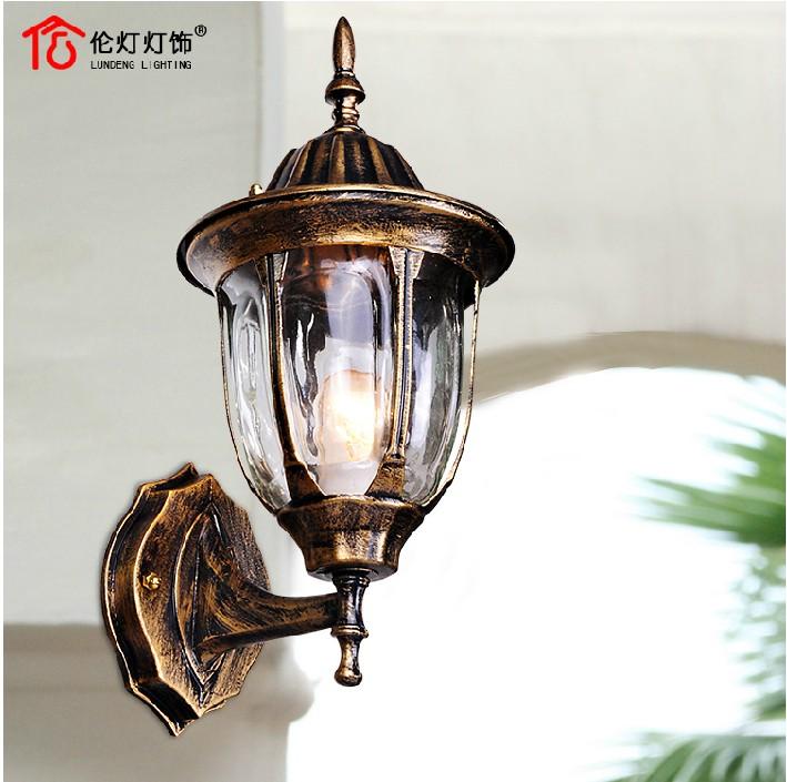 欧式壁灯仿古户外阳台灯铁艺防水过道灯具