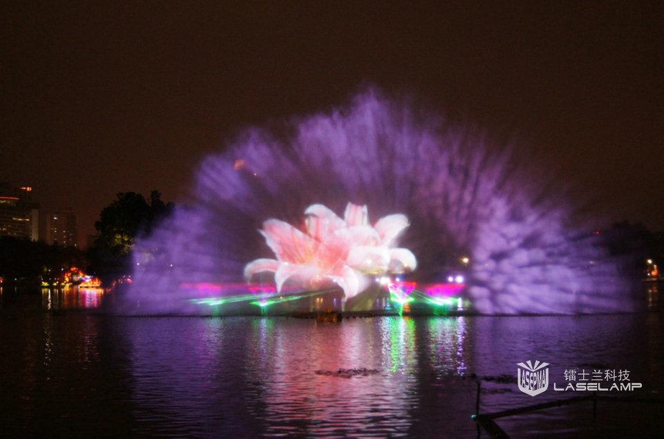 水幕激光灯,水景激光,水幕激光投影
