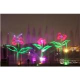 激光音乐喷泉,喷泉水景激光灯,激光水幕表演灯