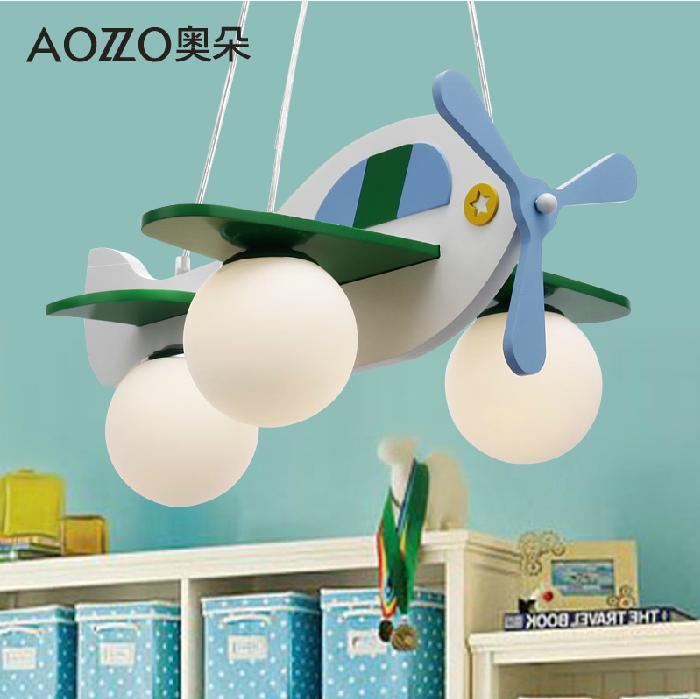 儿童房灯具男孩女孩卧室吊灯简约可爱卡通飞机cl