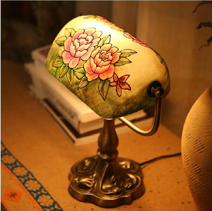 子兰灯饰欧式复古银行台灯美式手绘书房民国老上海台