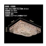可洛 奢华大气圆形水晶灯 客厅吸顶LED卧室圆形水晶灯饰新品G98
