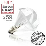 JULY就来 复古光源螺旋口卤钨灯蜡烛泡E27钻石灯泡