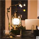 复古台灯欧式台灯卧室床头灯简约铁艺灯饰温馨书房卧室创意工程灯
