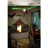 罗丹凯门灯客厅简约美式乡村田园煤油灯铁艺卧室工艺马做旧灯具