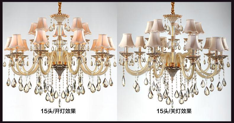 奥朵 欧式吊灯 奢华水晶吊灯大厅复式楼客厅大吊灯具