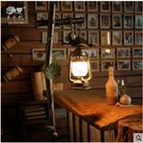 简约欧式乡村田园铁艺落地灯 美式客厅卧室复古工艺马灯 煤油灯
