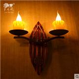 创意壁灯个性装饰西式餐厅灯阳台卧室复古怀旧小户型壁饰蜡烛灯