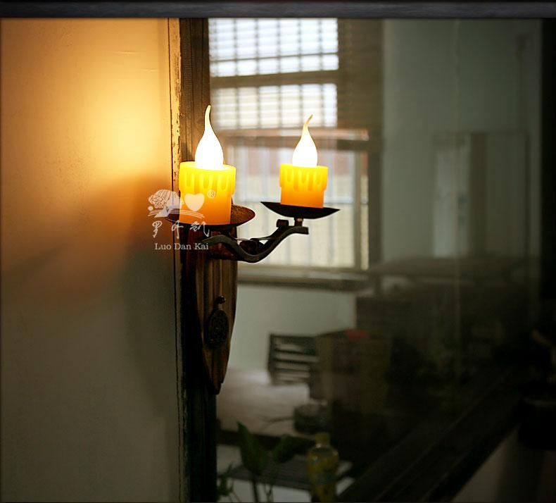 创意壁灯个性装饰西式餐厅灯阳台卧室复古怀旧小户