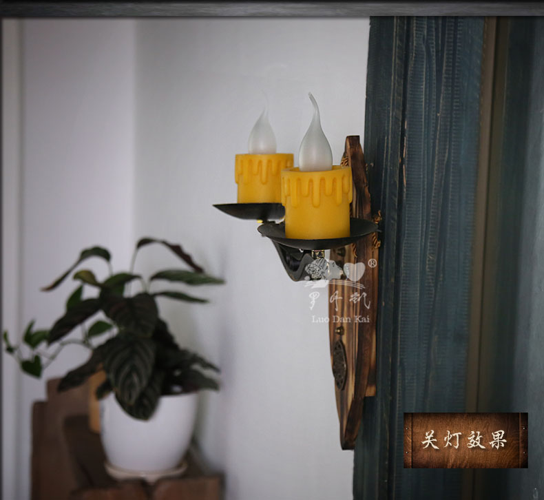创意壁灯个性装饰西式餐厅灯阳台卧室复古怀旧小户型