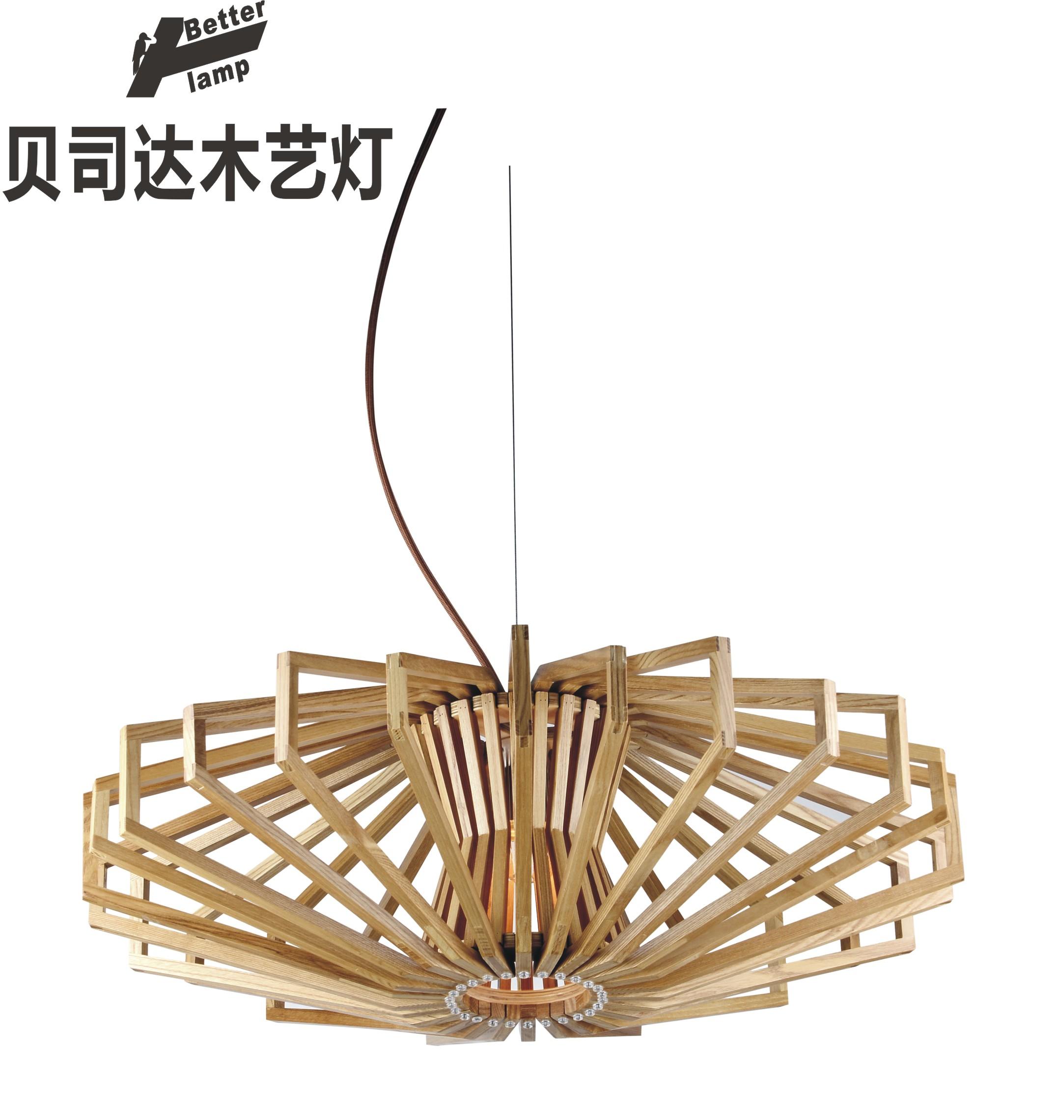 个性时尚创意灯时尚木质吊灯简约创意灯个性餐吊灯