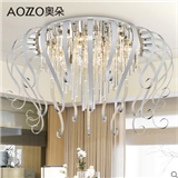 奥朵 现代简约led吸顶灯创意水晶客厅卧室餐厅灯饰灯具CL10527