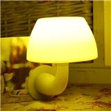 四联光电 声光控版感应小夜灯照明 智能LED声控 宝宝喂奶 起夜 创意蘑菇 声光控黄白色光 副本