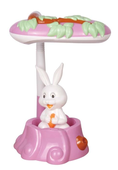 百利威 卡通造型 小白兔 台灯 mt831a 荧光灯管 18w