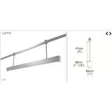 建御 铝制吊线线条灯 11W 16.5W Luz