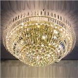 LED吸顶灯 新款圆形吸顶灯 大型水晶灯 定制非标工程灯 酒店大堂别墅会所水晶吸顶灯