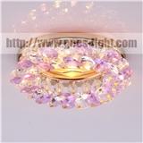 现代 MR16 gu5.3 gu10 AB 多彩色水晶珠镀铬铁基底座 led 射灯为室内吊顶装饰