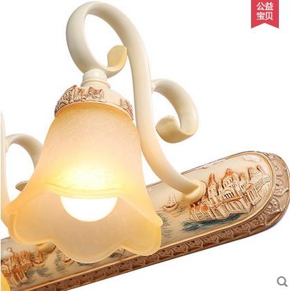子兰灯饰欧式镜面灯梳妆台卫生间镜子镜前灯复洗手间
