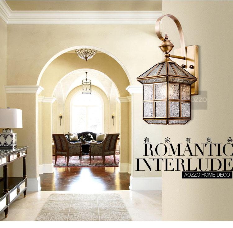 欧式复古户外壁灯客厅楼梯卧室灯阳台美式墙