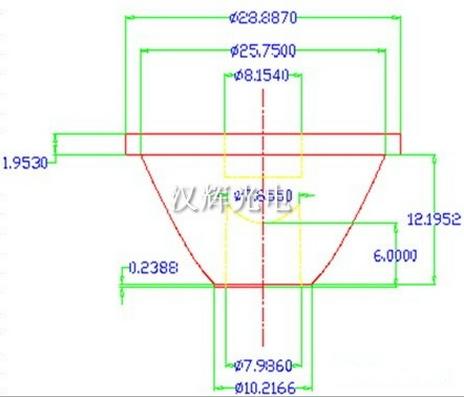 直径29mm透镜 10度手电透镜 投光灯透镜_led透镜_零