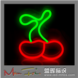 盟晖标识柔性霓虹灯牌 LED soft Neon light signs 超好看的小样板 樱桃