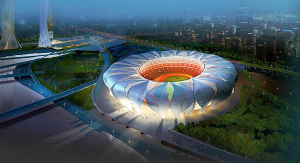 杭州体育馆_杭州奥体中心包括一个8万人主体育场,一座1万8千人主体育馆,还有游泳
