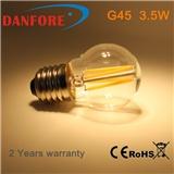 丹枫 G45 LED 灯丝球泡,磨砂镀金乳白灯罩,可调光LED仿古灯泡