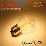 丹枫 G45 G14LED复古灯丝灯 E27爱迪生球泡调光2年质保
