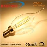 丹枫 C35拉尾LED装饰灯丝复古灯 E14 E12 CE ROHS ETL
