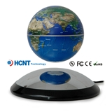 磁悬浮旋转4寸地球仪 磁铁托盘可单独承重250克物体 新奇实用创意商务摆件