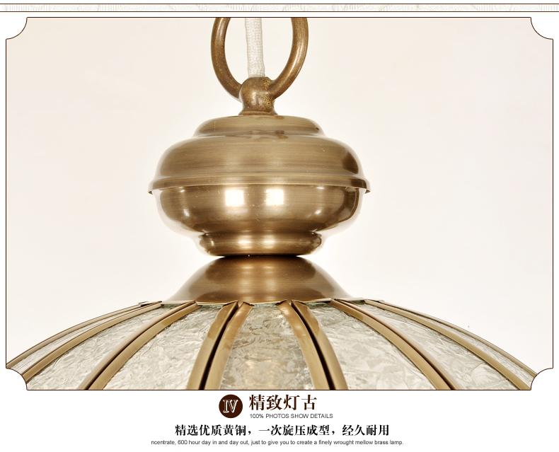 斯诺美居玻璃焊锡餐厅吧台全铜小吊灯欧式复古钻石玻璃茶色玻璃sc0500