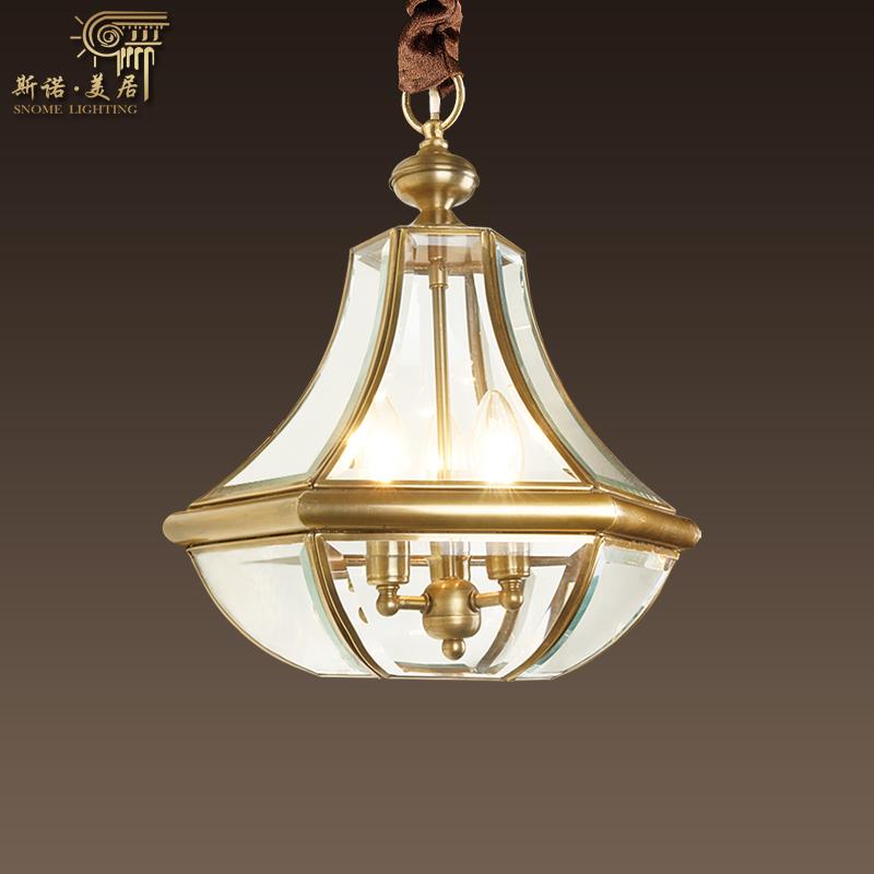 斯诺美居灯具定制全铜欧式吊灯门厅过道小吊灯400-800