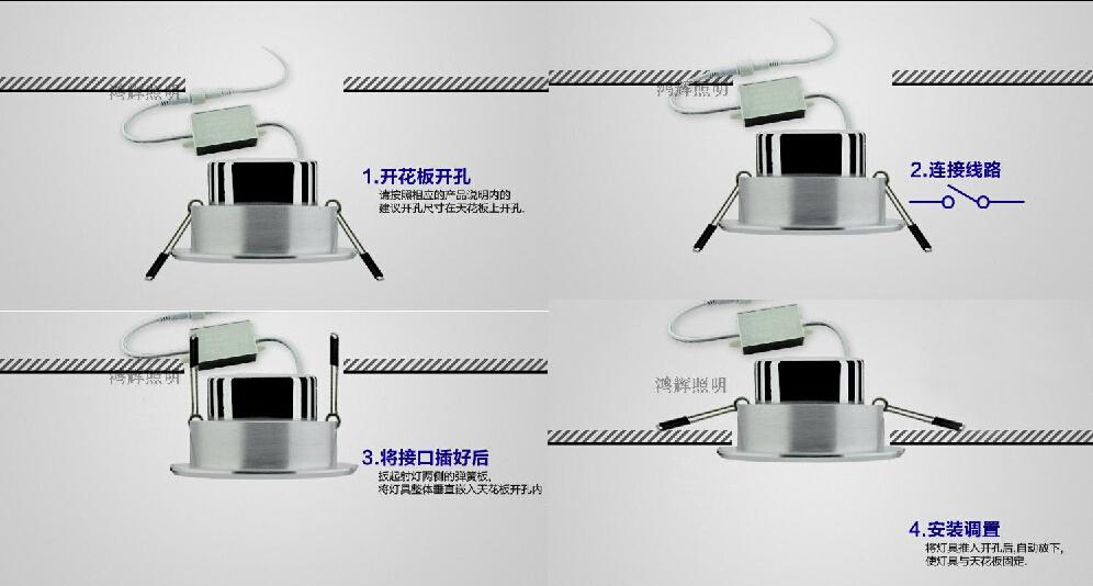 安装筒灯的步骤:        第一步:更具筒灯的尺寸及安装