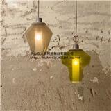 大申 复古吊灯 艺术创意个性美式 吧台灯仿烛台气泡玻璃吊灯