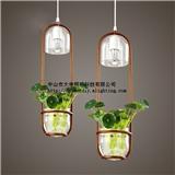 大申 创意吧台植物吊灯 简约玻璃