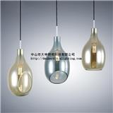 大申 北欧吊灯 创意餐厅吧台灯复古单头玻璃灯罩