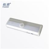 感应灯厂家 USB锂电池感应灯充电led感应小夜灯 铝合金衣柜灯短款