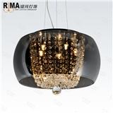 RM8015-500现代简约餐厅卧室玻璃水晶吊灯