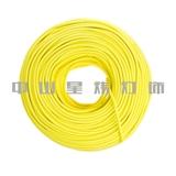 彩色编织电源线 欧规VDE 美规UL 澳规SAA DIY编织线 棉纱线 黄色