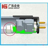 T8灯管公母对插免焊连接器3PIN
