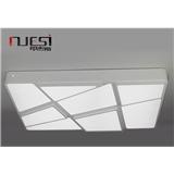 河北铁艺灯全产业链工厂 LED吸顶灯 客厅 简洁 多边形八格